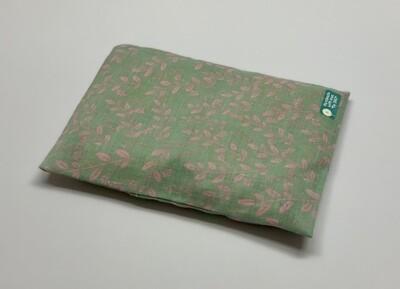 Kissen - Grün, pinke Gräser