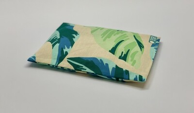 Kissen - Blätter grün/blau