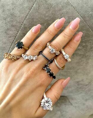 Women's Rings Le Corone, TRILOGY, white CZ stones