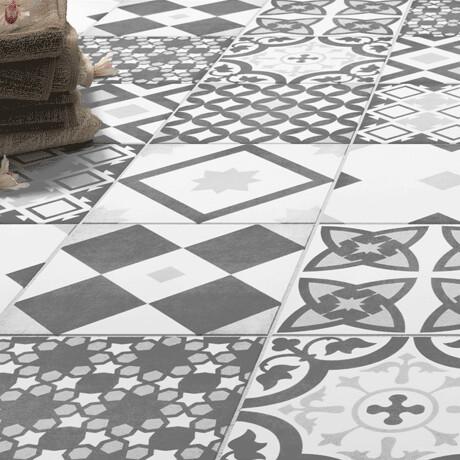Vintage Grey Porcelain Tiles 22.3 X 22.3 cm