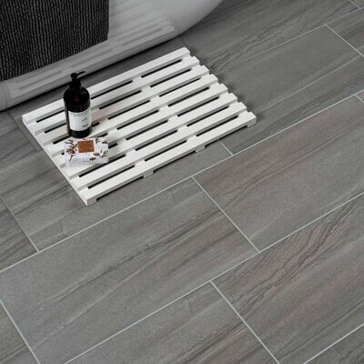 Dark Grey Stone Porcelain Tiles 60 x 30 cm
