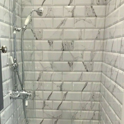 Marble Metro Gloss Tiles 10 x 20 cm