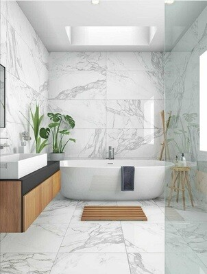 Matt Marble Porcelain Tiles 60 x 30 cm