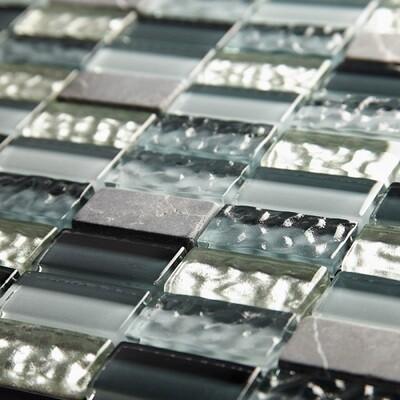 Ripple Glass Mosaic Tiles 30 x 30 cm