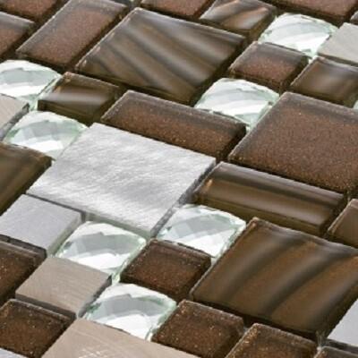 Modular Glass Mosaic Tiles 30 x 30 cm