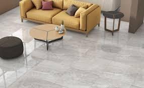 Light Grey Gloss Porcelain Tiles 60 x 60 cm