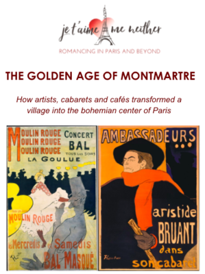 THE GOLDEN AGE OF MONTMARTRE - Webinar