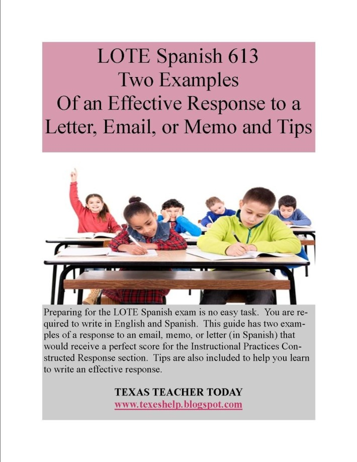 LOTE Spanish Two Examples of Response to Email and Tips