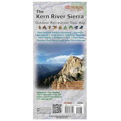 Extremeline // The Kern River Sierra Topo Map