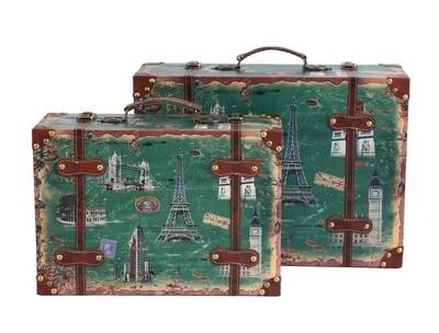 Set om 2 vintage resväskor