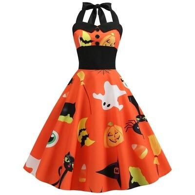 New Vintage Klänning Pumpkin karneval