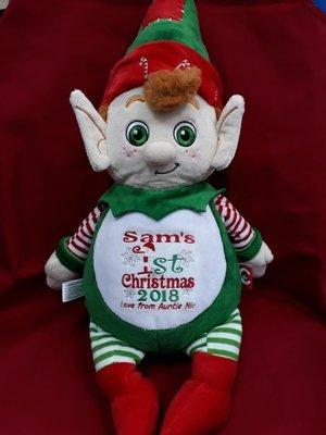 Christmas elf cubbie