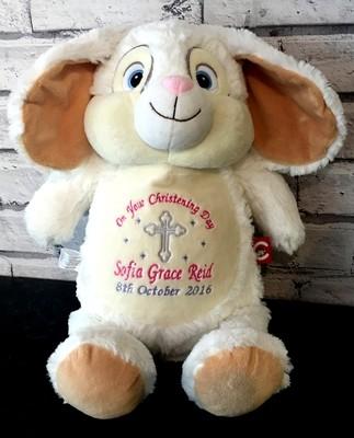 Christening White Bunny