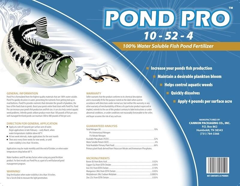 Pond Pro Fish Pond Fertilizer 10-52-4 (25lbs/bx)