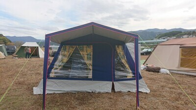 マルシャル セボンヌ4  PVCルーフ  ライン窓 ヴィンテージ幕 フレームテント Marechal