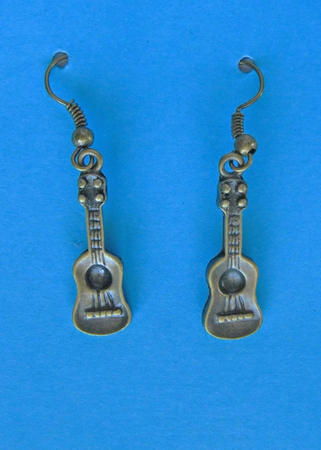 Bronze Ukulele Earrings
