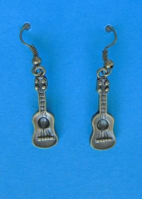 Bronze Ukulele Earrings