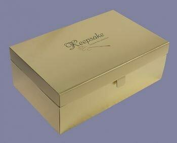 Gold Wedding Dress Preservation Box (Very Deep)
