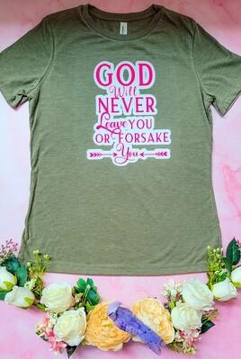 God Will Never Leave You of Forsake You