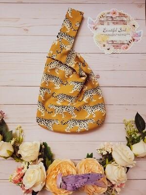 Cheetah and Tribal Japanese knot bag