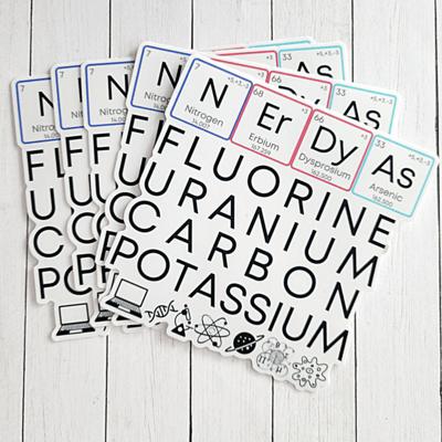 NErDy As FUC* 4x4 Vinyl Sticker