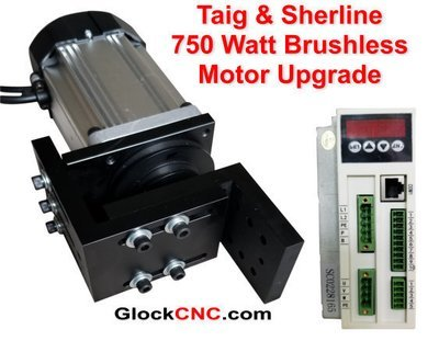 Sherline & Taig Brushless Motor Upgrade 750 Watt CNC Controllable