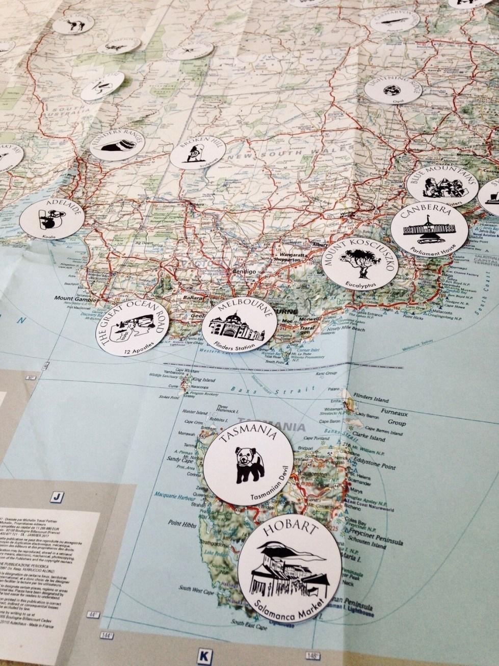 Place on Map -Australia-