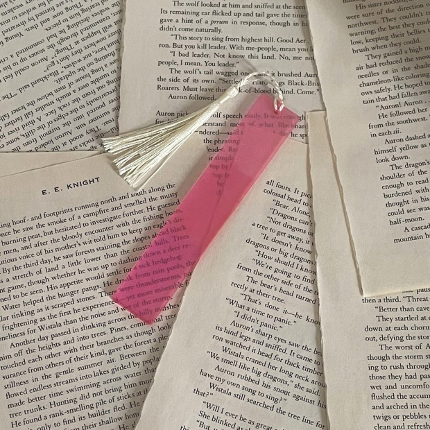 Standard Size Pink Color Shift Bookmark