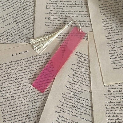 Standard Size Pink Color Shift Bookmark