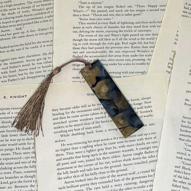 MINI Black and Gold Ink Bookmark