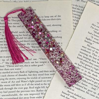 Standard Size Pink Glitter Bookmark