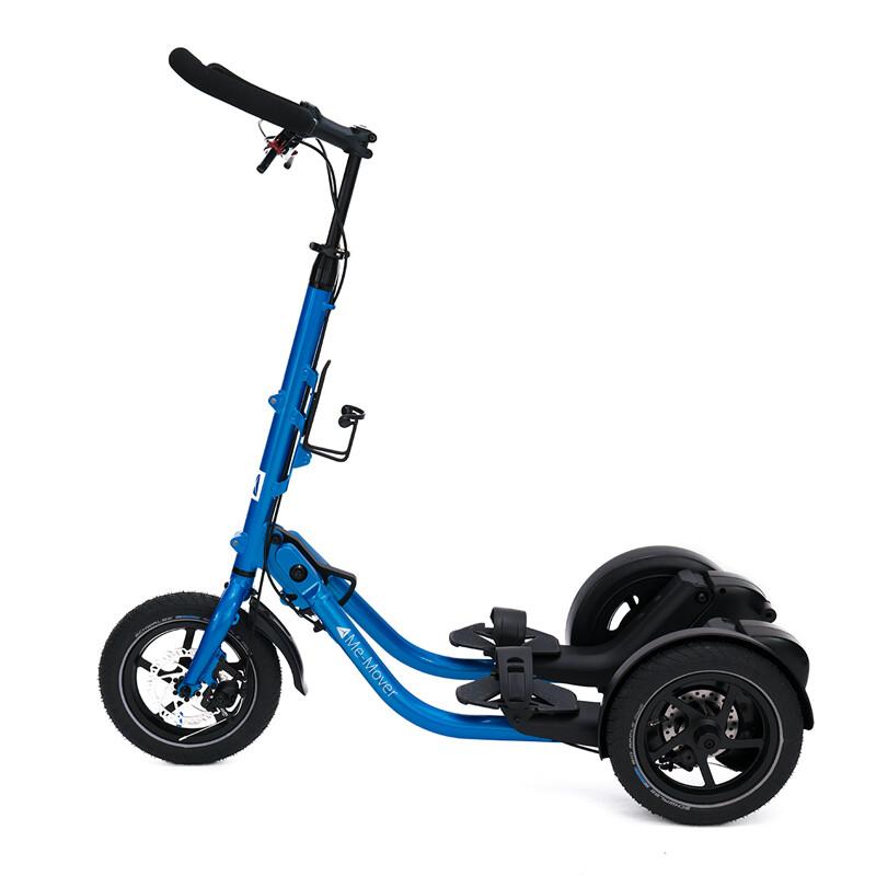 Me-Mover Fit 2.3 - Cobalt Blue (blau) -                                        Faltbarer 3 Rad Fitness Stepper mit 12 Zoll Bereifung für In- und Outdoor Aktivitäten - Neuware