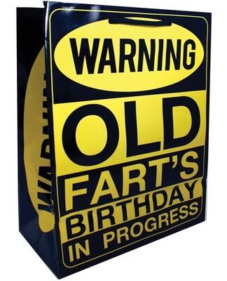 Warning Old Fart's Birthday In Progress Gift Bag