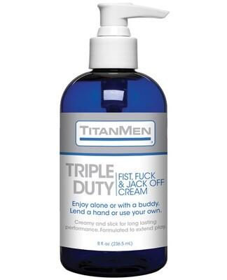 Titanmen Tripple Duty Fist, Fuck & Jack Off Cream - 8 Oz Bottle