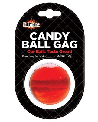 Candy Ball Gag - Strawberry