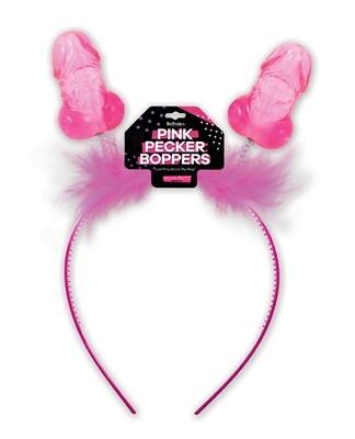 Pink Pecker Boppers Headband
