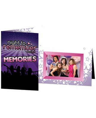 Night To Remember Photo Frame By Sassigirl - Purple Pack Of 6
