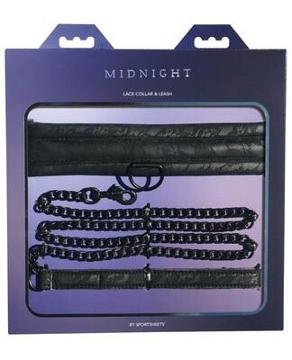 Sincerely Lace Collar & Leash - Black