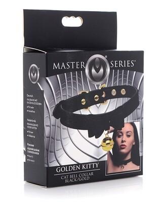 Master Series Golden Kitty Cat Bell Collar