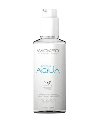 Wicked Sensual Care Simply Aqua Water Based Lubricant