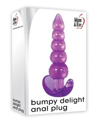 Adam & Eve Bumpy Delight Anal Plug - Purple