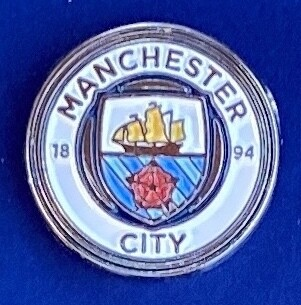 Manchester City FC Logo Pin Badge 2016-Present