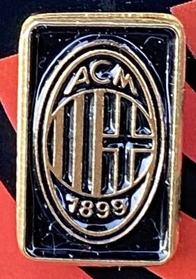 AC Milan (Italy) Logo Pin Badge Black and Gold
