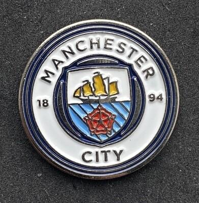 Manchester City FC Logo Pin Badge 2016-Present