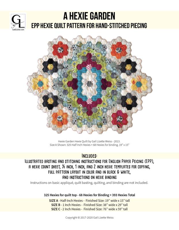 A Hexie Garden EPP Quilt Pattern - PDF Download