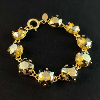 Cushion Cut Swarovski Crystal Bracelet, Champagne - La Vie Parisienne by Catherine Popesco
