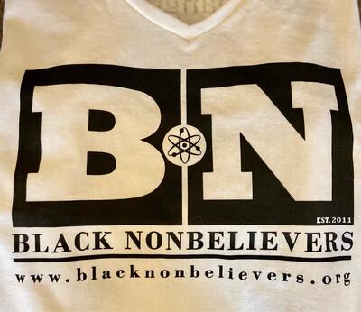 BN Logo Women's V-Neck Shirt - White (New!)