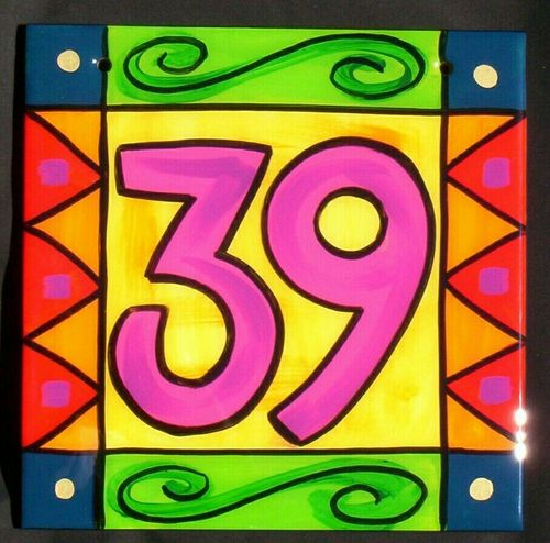 House Number Tile