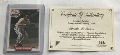 Brooks Robinson All Star Autographed Baseball Card