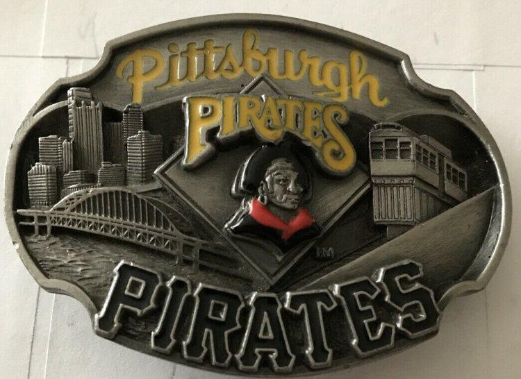 Pittsburgh Pirates Siskiou Belt Buckle Mlb /10000